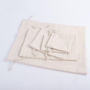 Image 3 - 50PCS ถุงผ้าลินินผ้าฝ้าย Jute Drawstring กระเป๋าเครื่องประดับบรรจุภัณฑ์แต่งหน้า Candy Reusable ซองกระสอบพิมพ์โลโก้ที่กำหนดเอง