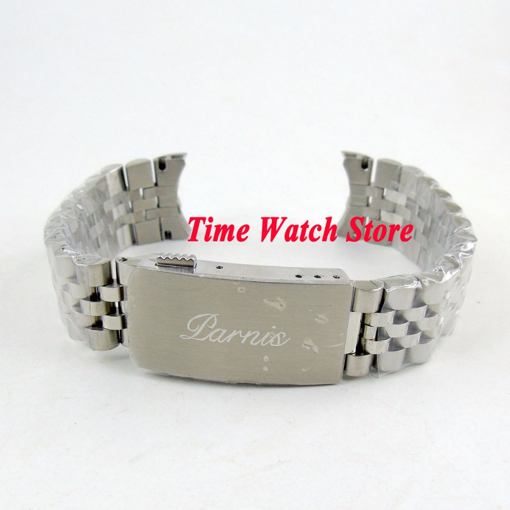 New version PARNIS 20mm width 316L stainless steel watch band watch strap bracelet Fit 40mm SUB men's watch B1-in Watchbands from Watches    1