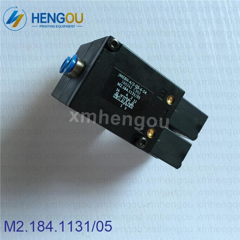 1 Piece Import quality solenoid valve M2.184.1131/05 for Heidelberg SM102 CD102 machine 1 set heidelberg sm102 cd102 mo machine parts feeder valve for heidelberg 66 028 301f mv 026 847