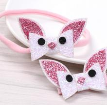 New Glittering Rabbit Girl hair accessories kids princess clips headband hairpins barrettes Headwear  FD23
