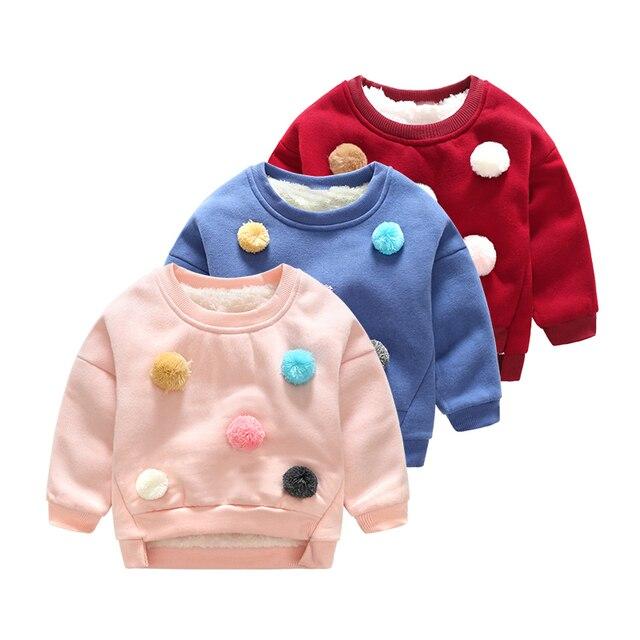 Для маленьких девочек одежда 2017 зима теплый свитер детские свитера милый мультфильм Рождество верхняя одежда с длинными рукавами с круглым вырезом трикотажная одежда для детей