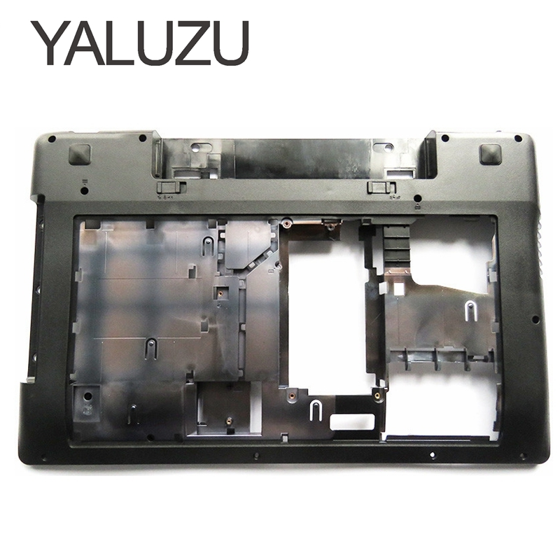 YALUZU New For Lenovo IdeaPad Z580 Z585 Base Bottom Case Cover 3ALZ3BALV00 US lower case 90200637 Laptop Replace Cover black клавиатура rocknparts для lenovo ideapad g580 g585 z580 z580a z585 z780 black 324848