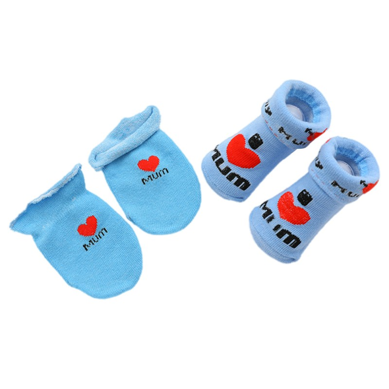 2PCS/Set 2018 New Baby Socks Children Accessories Baby Printed High Tube Cotton Socks+ Printed Anti-grab Gloves Two Sets A12PCS/Set 2018 New Baby Socks Children Accessories Baby Printed High Tube Cotton Socks+ Printed Anti-grab Gloves Two Sets A1