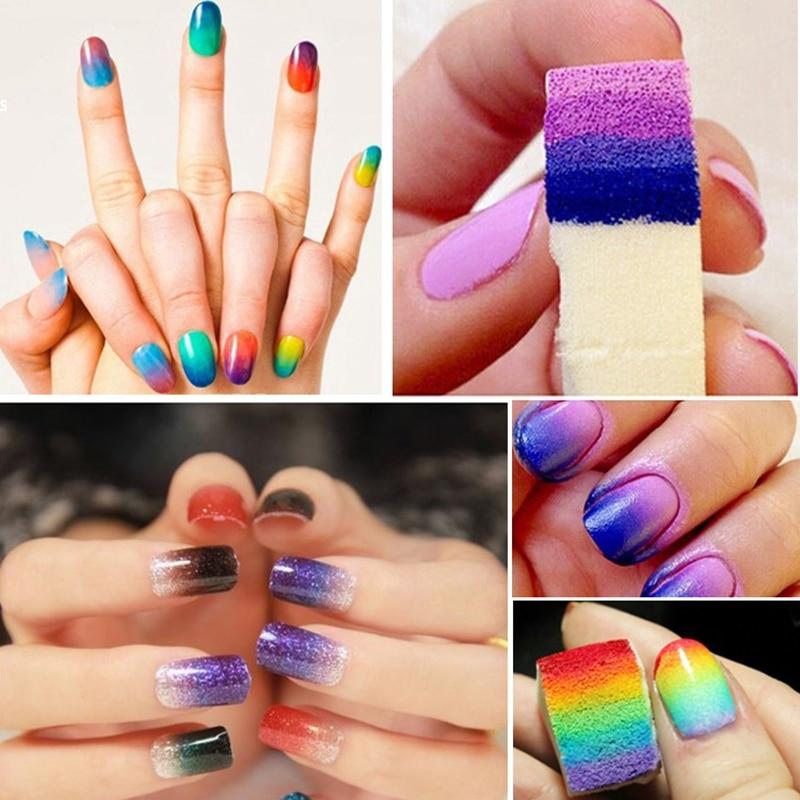 CLAVUZ 24pcs New Woman Salon Nail Sponges Makeup Manicure Nail Art ...