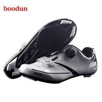BOODUN Pro Road Radfahren Schuhe Self Locking Atmungs rennrad Schuhe Reflektierende Fahrrad Racing Turnschuhe Zapatos Ciclismo Männer-in Fahrradschuhe aus Sport und Unterhaltung bei