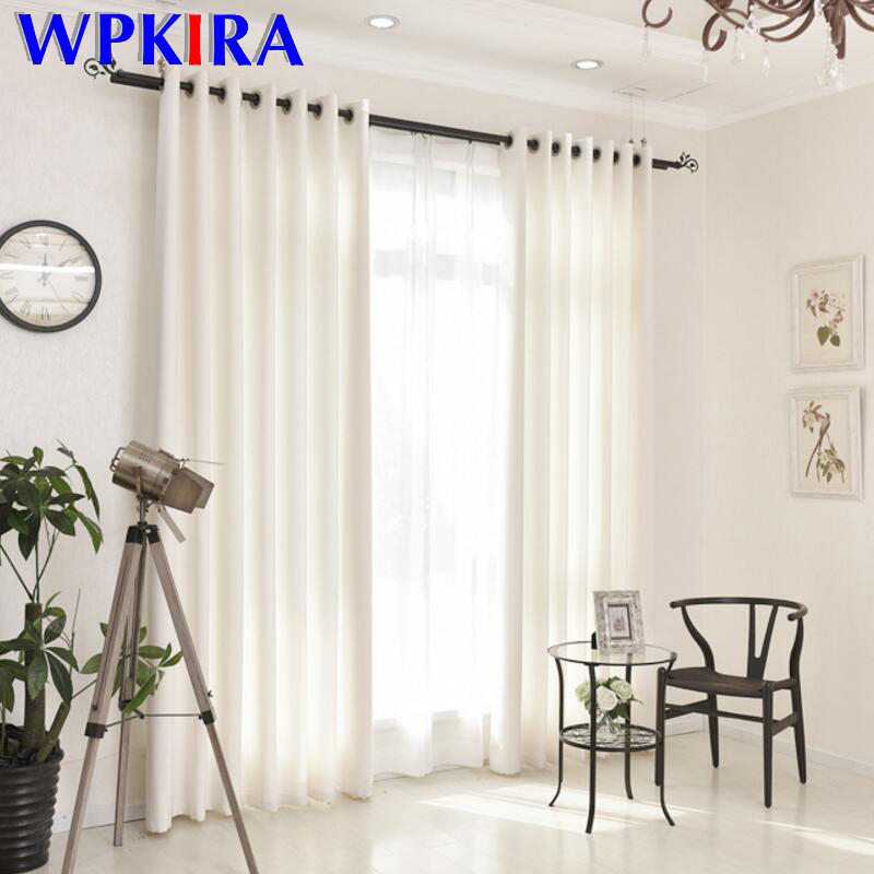 White Curtain Drapes For Beauty Salon Fitting For Living