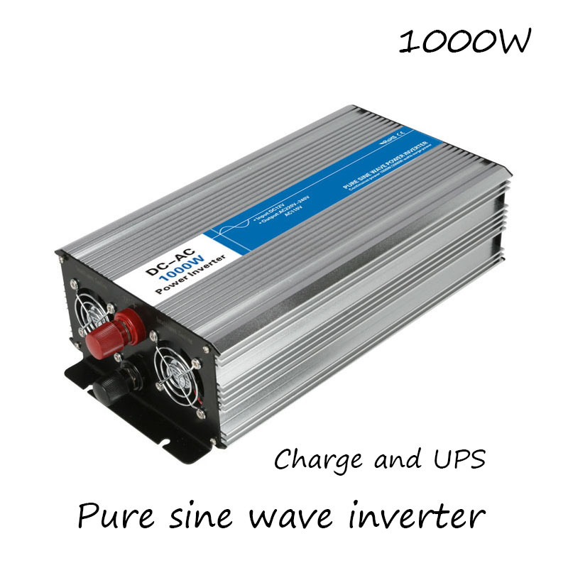 DC-AC 1000W Pure Sine Wave Inverter 12V To 220V Converters With Charge UPS Electric Power Supply LED Digital Display USB China 500w 12vdc 220vac pure sine wave inverter without ac charge home inverter