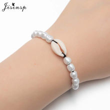 Jisensp Summer Style Bohemian Beach Shell Beaded Bracelet Simple Fashion Rope Bracelets Bangels for Women Girls Party Gift(China)