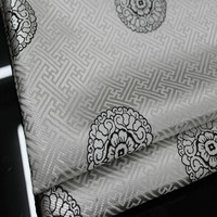 CF112 1 quintal Branco Tecido De Seda Estilo Chinês Brocado Tecido Jacquard Para Homens Vestido de Tecido DIY Tecido Para O Vestido Chinês roupas
