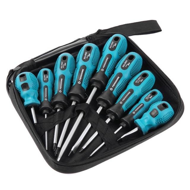 Jeu de tournevis outils multi bits réparation Torx tournevis tournevis Kit maison utile Multi outil à main 9 en 1 tournevis ensemble