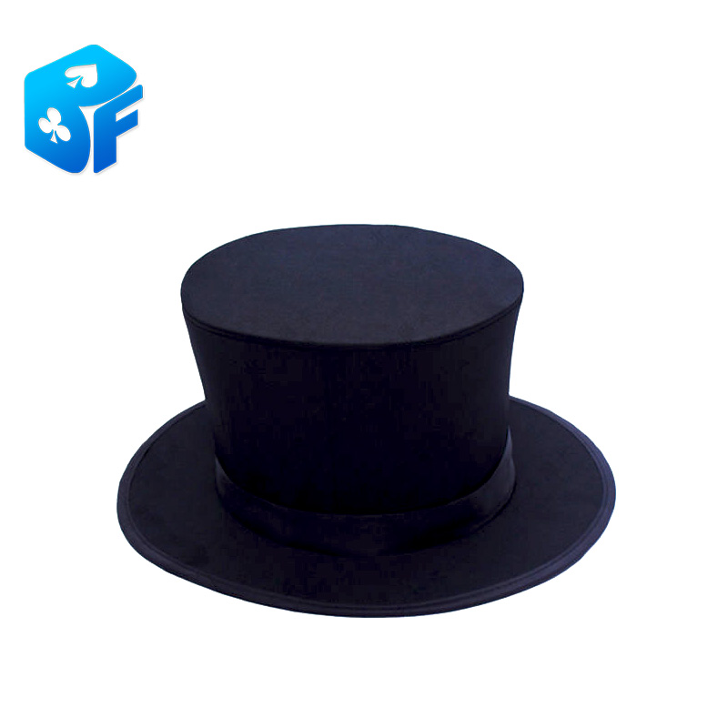 3c21e5e03eec6 Folding Top Hat with gimmick magic trick Costume Accessory Stage Prop  Magician s Hat magic hat