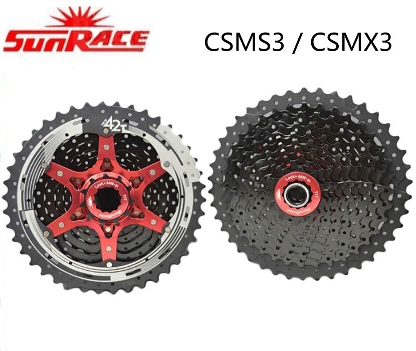 SunRace 10 speed Cassette Bicycle Freewheel SunRace SMS3 & CSMX3 11-42T MTB Bike Freewheel different to 9 10 11v 11-40/42T sunrace black csmx3 11 40t 11 42t 10 speed mtb bike cassette freewheel wide ratio bicycle mtb freewheel cassette 11 40t 11 42t