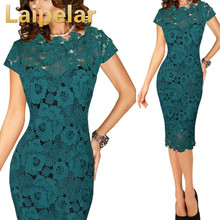 Women Lace Dress Evening Party Tight Bodycon Burgundy Vintage Fitted Short Elegant 2018 Summer Casual Office White Green Black tight lace fitted maxi prom evening dress