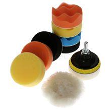 Kit doutils à main pour polisseuse de voiture, 3 pouces, 80mm, 11 pièces, éponge à polir, M10 M14