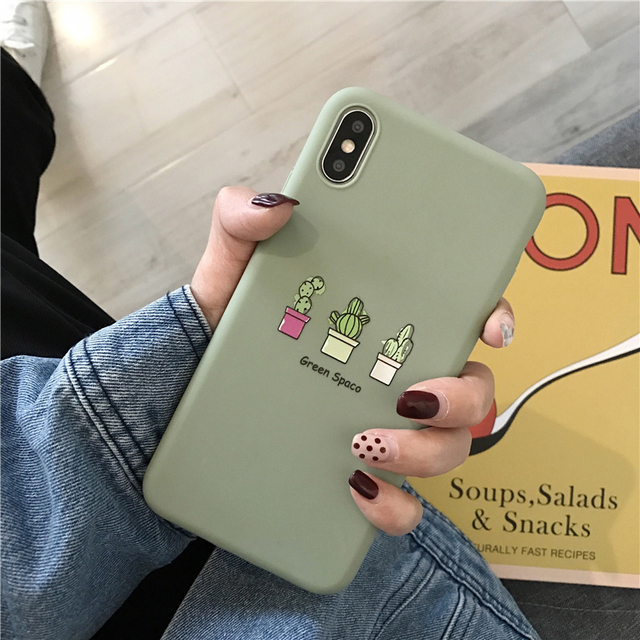 Phone Case For iPhone 11 6 6s 7 8 Plus X XR XS 11Pro Max Cute Cartoon Letter Deer Smiley Face Soft TPU For iPhone Cover 3
