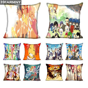 New Arrival Fairy Tail Pillow Cover Bedroom Home Office Decorative Pillowcase Square Zipper Pillow Cases Satin Soft No Fade(China)