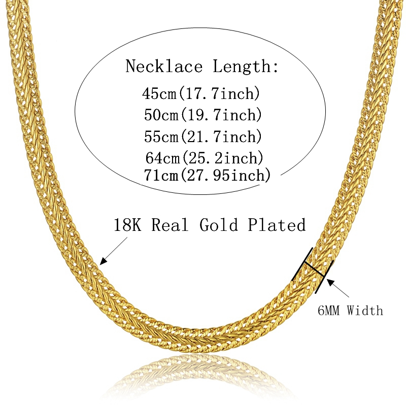 Indian Gold Jewelry Sets 6MM Snake Chain For Men/Women Wedding ...