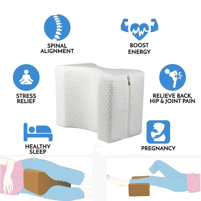 Memory Foam Leg Pillow Cushion Hips Knee Support Pain Relief Orthopaedic Hip Alignment Leg Pillows Leg Pad Support Cushion