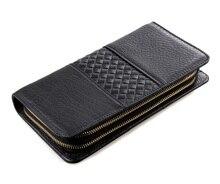 8070A 2015 Fashion Men's Clutch Wallet Men's Wallet Cow Leather Men's Clutch Bag Business Style Wallet Purse Male Clutch Bag Men