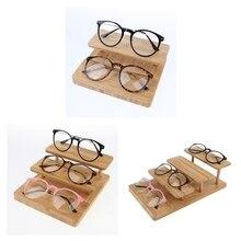 цена на Retro Wood Sunglasses Display Rack Eyeglasses Stand Holder for Stores Glasses Show and Storage