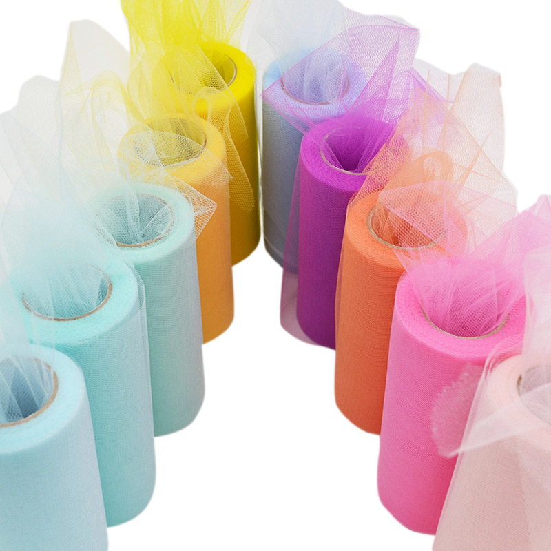 25yard 15cm Soft Sheer Crystal Tulle Roll Wedding Decoration Mariage Fabric Organza Tulle Tutu Dress DIY Birthday Party Supplies in Party DIY Decorations from Home Garden