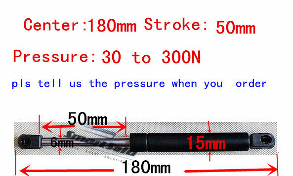free shipping 180mm central distance,50mm stroke,30 to 300N force pneumatic customized Auto, Lift Prop Gas Spring Damper насос gidro force cp32 6 180mm