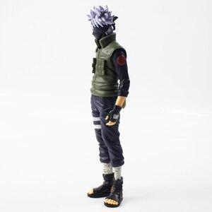 Image 3 - 28cm Anime Naruto Shippuden Grandista Hatake Kakashi Banpresto Shinobi Relations PVC Action Figure Collection Model Toy