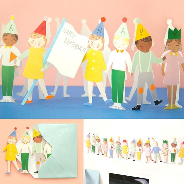 20 Pcs Tangan Di Tangan Kartu Ulang Tahun Anak Pesta Ulang Tahun