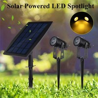 Waterproof Light Contorl Solar Powered LED Spotlight Outdoor Garden Landscape LED Garden Light Yard Porch Pahtway