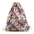 kai yunon  Womens Floral Canvas Backpack Fashion Drawstring Backpack Aug 18