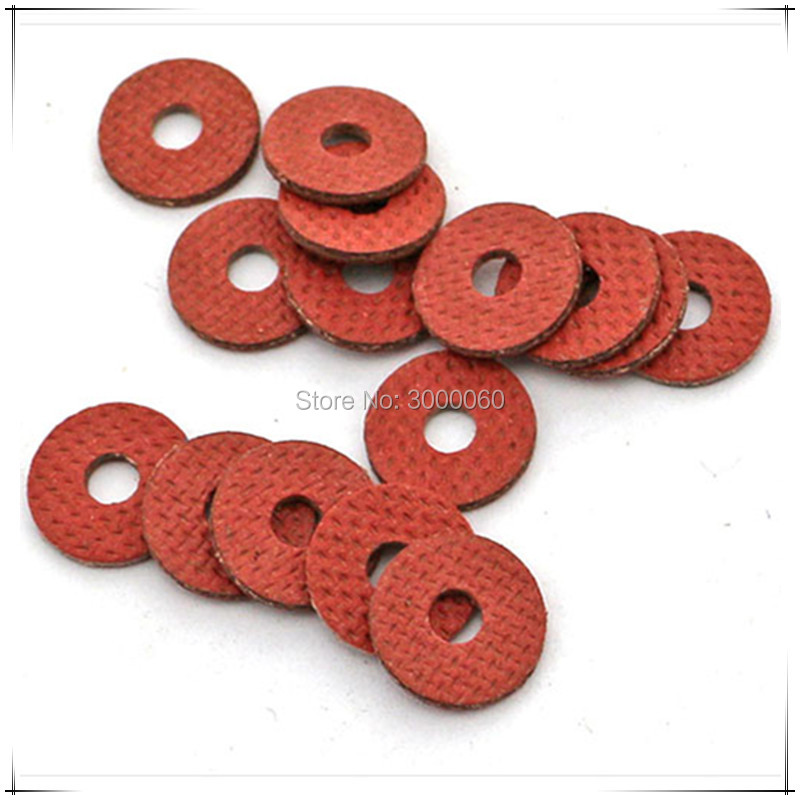 <font><b>M3</b></font>*<font><b>10mm</b></font>(OD)*0.8mm(Thickness) Red Steel Paper Insulation Spacer Gasket Washer <font><b>1000pcs</b></font>/lot image