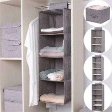 Coton placard armoire armoire organisateur suspendus poche tiroir vêtements stockage vêtements accueil Organization accessoires fournitures