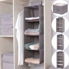 Cotton Closet Wardrobe Cabinet Organizer Hanging Pocket Drawer Clothes Storage Clothing Home Organization Accessories Supplies все цены