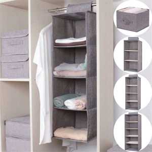 Image 1 - Pamuk dolap dolap dolap organizatör asılı cep çekmece giysi saklama giyim ev organizasyon aksesuarları malzemeleri