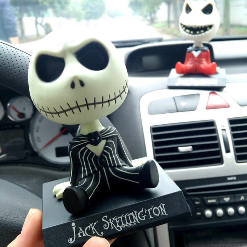 Car Decoration Christmas Monster Jack Shakes His Head Cute Doll Handmade Gift Birthday Accessories