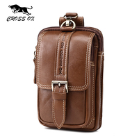 CROSS OX Summer New Arrival Genuine Leather Organizer Wallet Men Waist Pack Casual Male Key Wallets