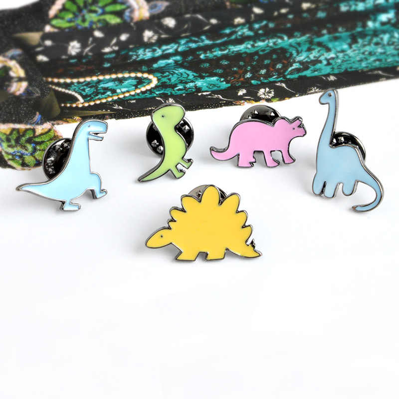 Urocze zwierzę zestaw szpilki kolorowe dinozaur leniwy kotek uroczy pies Totoro Lapel emalia przypinane broszki para lis królik odznaki biżuteria prezent