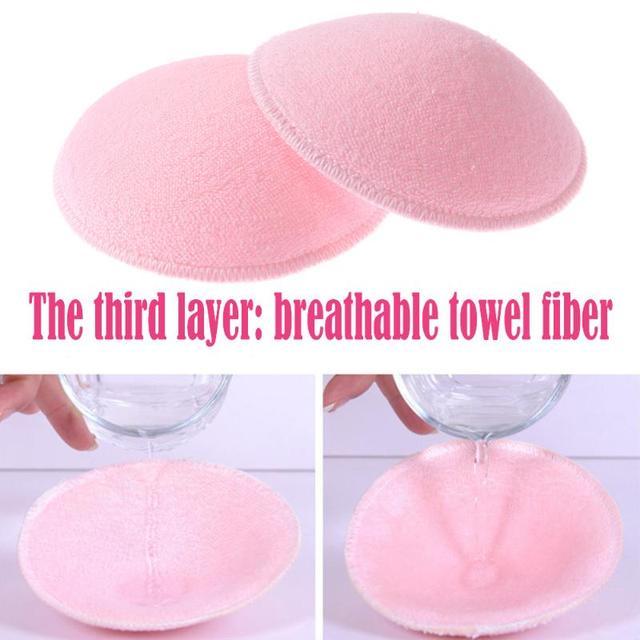 2pcs/lot Women Pregnant Nursing Bra Pads Reusable Washable Cotton Thick Breast Feeding Pads Absorbent Pregnancy Nursing Pads