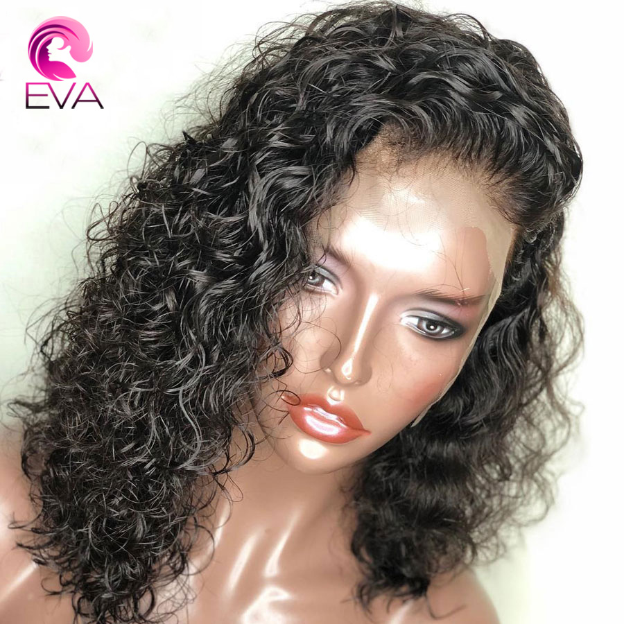 Wig Hair Water-Wave Pre-Plucked 360-Lace Eva with Baby Brazilian Remy for Black-Women title=