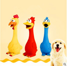 Dog Toys Rooster Crows Attract Puppy Dog and Cat Pet Squeak Toys Supplies 3 Colors 28CM