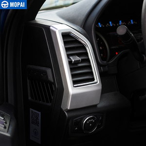 Image 5 - Mopai Abs Auto interieur Dashboard Airconditioning Vent Outlet Decoratie Cover Frame Stickers Voor Ford F150 2015 + Auto Styling