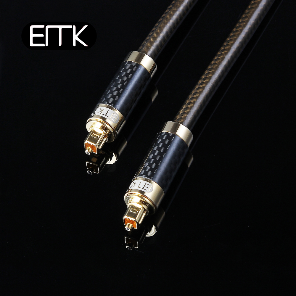 EMK High Resolution Carbon fiber shell S/PDIF digital cable optilal toslink spdif audio cable OD8.0 1m 2m 3m 5m