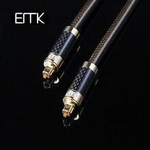 Цифровой кабель EMK в корпусе из углеродного волокна с высоким разрешением S/PDIF, оптилальный аудио кабель toslink spdif OD8.0 1 м 2 м 3 м 5 м
