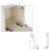 50 unids/lote CS06 hidráulica Gas Servicios Gabinete de Cocina puerta de latón primavera tapa hacia abajo abrir damper muebles hardware 80N