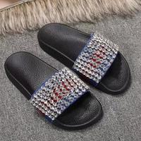 2019 Follwwith Brand Hot Summer Gladiator Men Sandals Bling Luxury Crystal Cover Shoes Men Flats Beach Mens Slippers