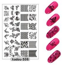 1 Pcs  9.5*14.5 Nail Tranfer Printing Template Art Decorative Pattern Plates Polish Stencils Tools