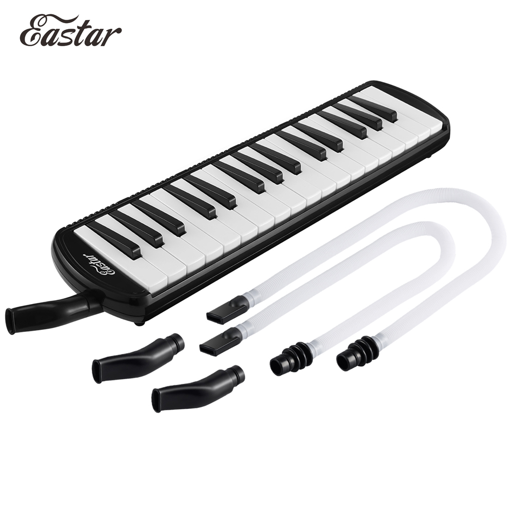 Eastar 32 Keys Melodica Piano Style Melodic Keyboard Musical Accordions Instrument Pro For Students + Case Strap 2 Mouthpiece