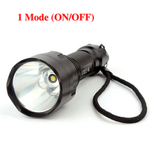 C8 led flashlight cree T6 max 1000 lumens 1 mode torch lanterna light for camping without 18650 battery LT29