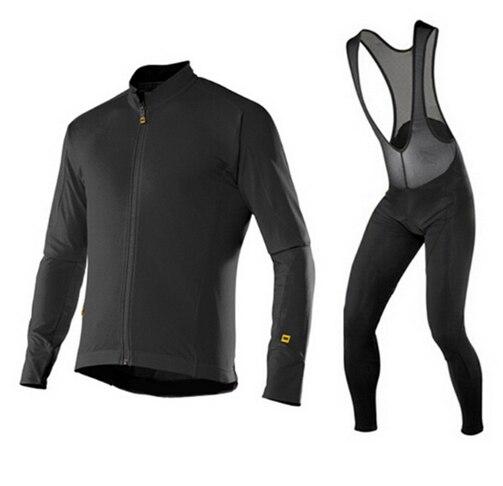 Mavic 2018 Cycling Jerseys Thin Long Sleeves Cycling Set Ropa Ciclismo Bike MTB Clothing Pants Suit 9D Gel Pad
