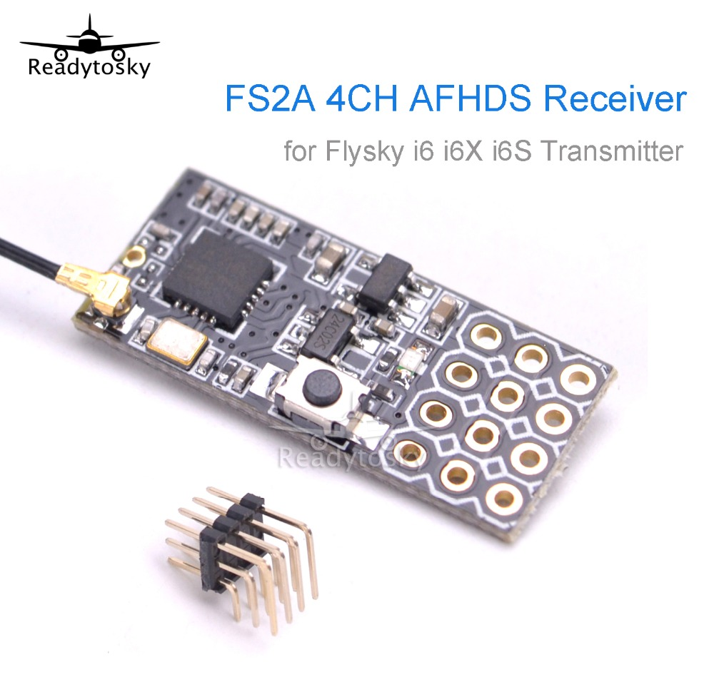 FS2A 4CH AFHDS 2A Mini Compatible Receiver PWM Output for Flysky i6 i6X i6 NEW